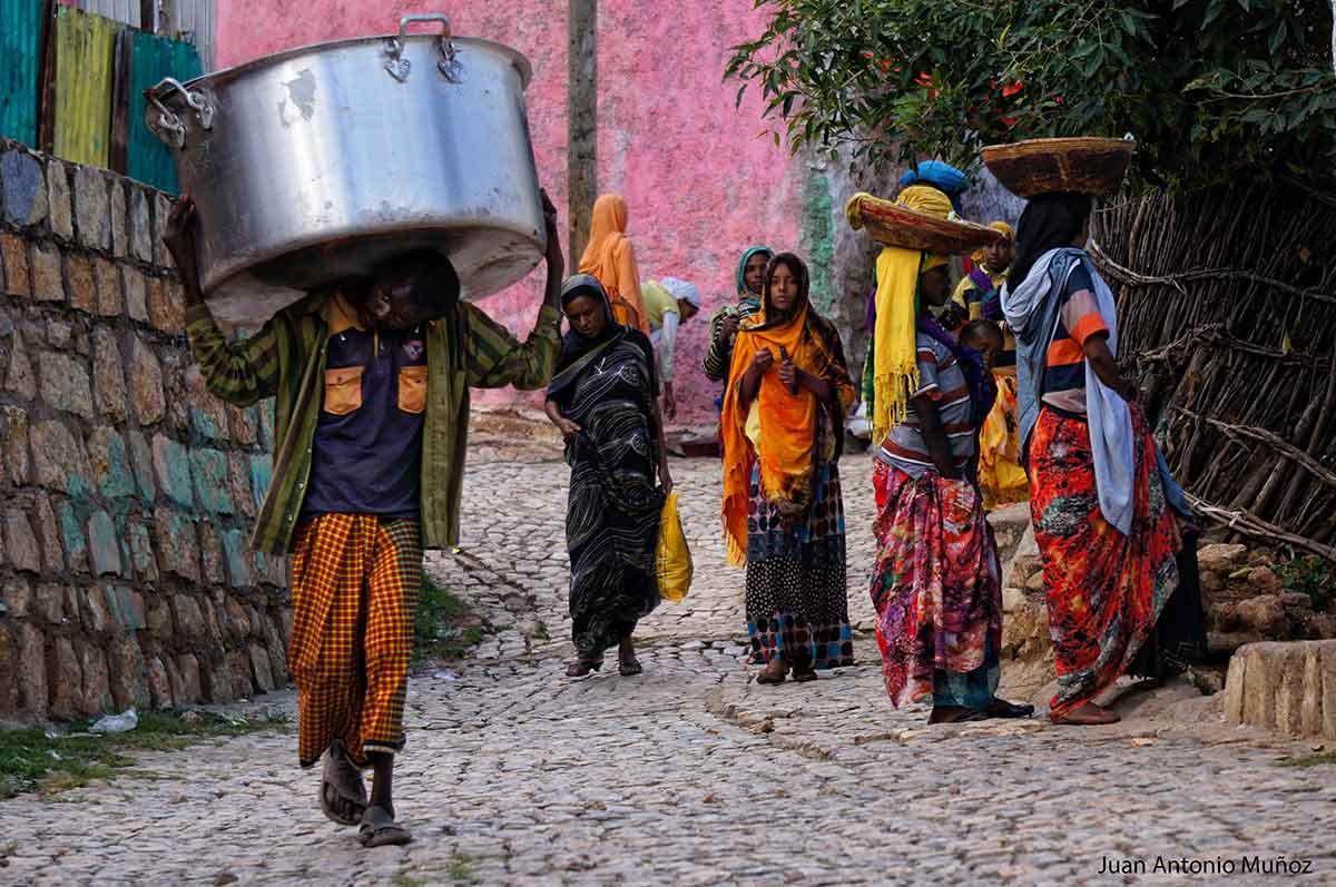Calle de Harare Etiopía
