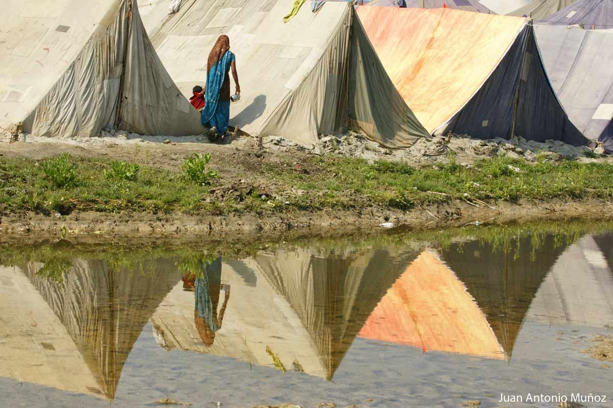 Campamento en Allahabad