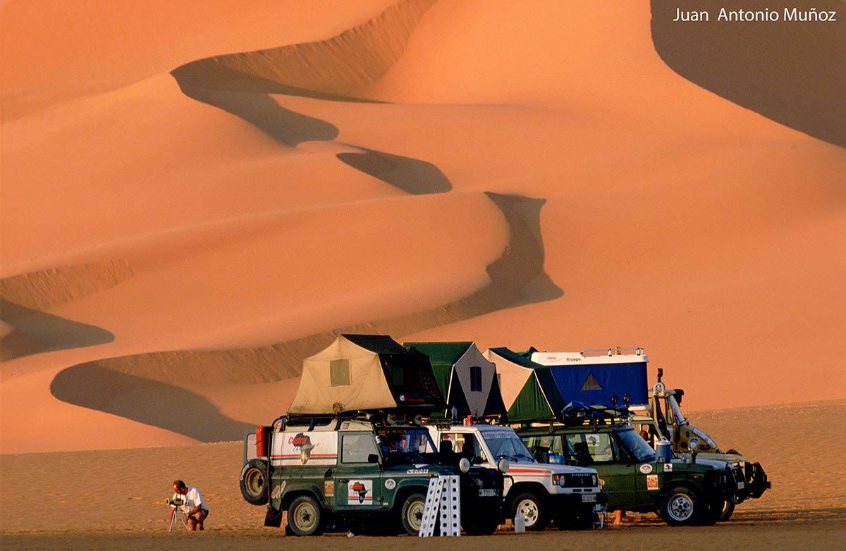 Campamento en el sur de Argelia