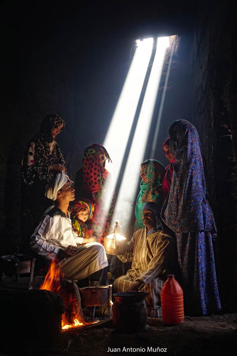 Cocina en el Draa Marruecos