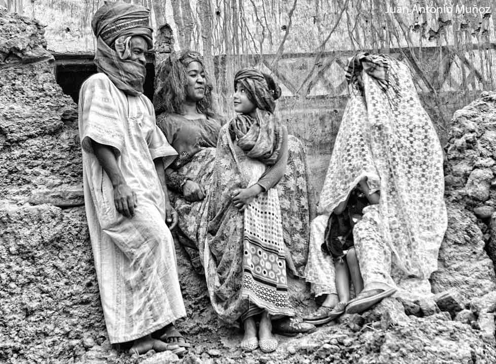 Familia de Hartchaou Marruecos