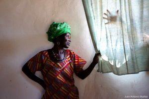 Interior choza Senegal
