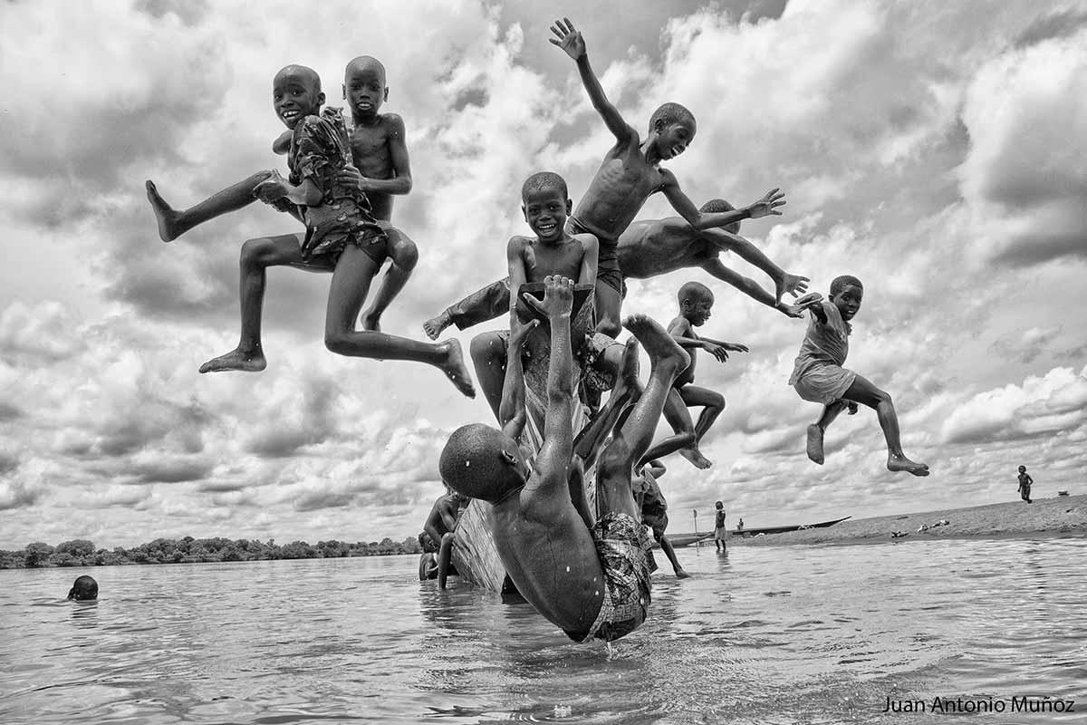 Jugando en el Niger
