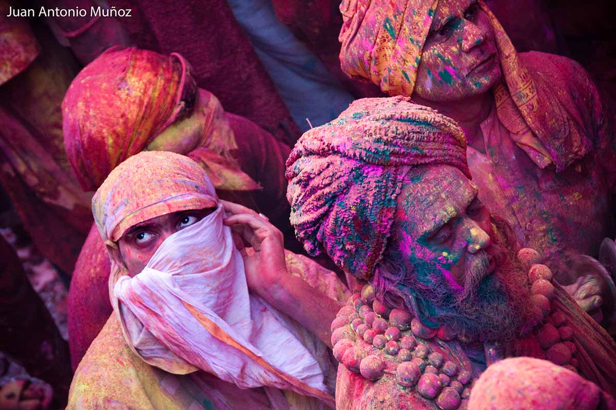 Miradas en Holi India