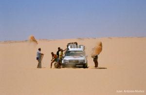 Sahara en el norte del Chad