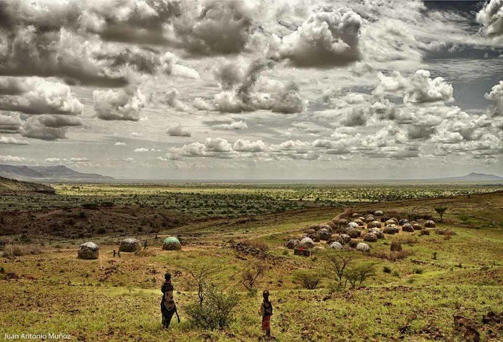 Aldea en Lobur Kenia