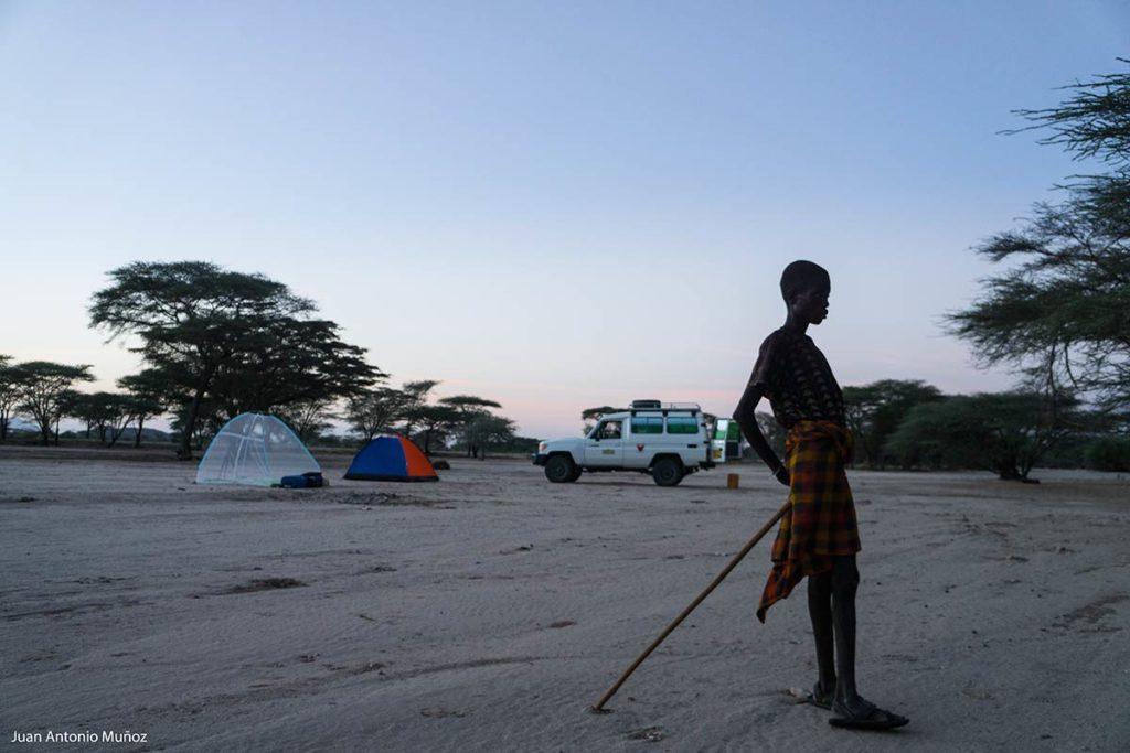 Campamento en Turkanaland Kenia