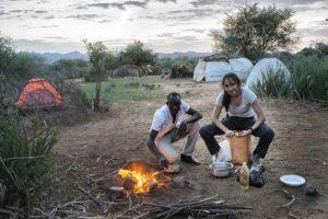 Cocinando en Oropoi