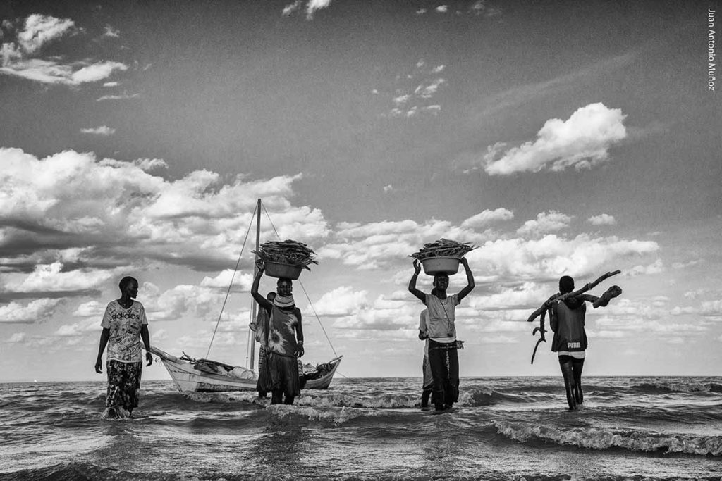 Recogida pesca Turkana Kenia