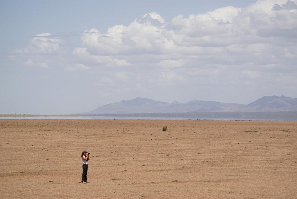 Tatiana en desierto