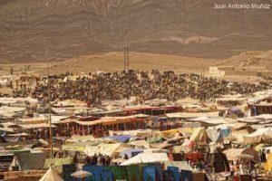 Vista del Moussem Imilchil Marruecos