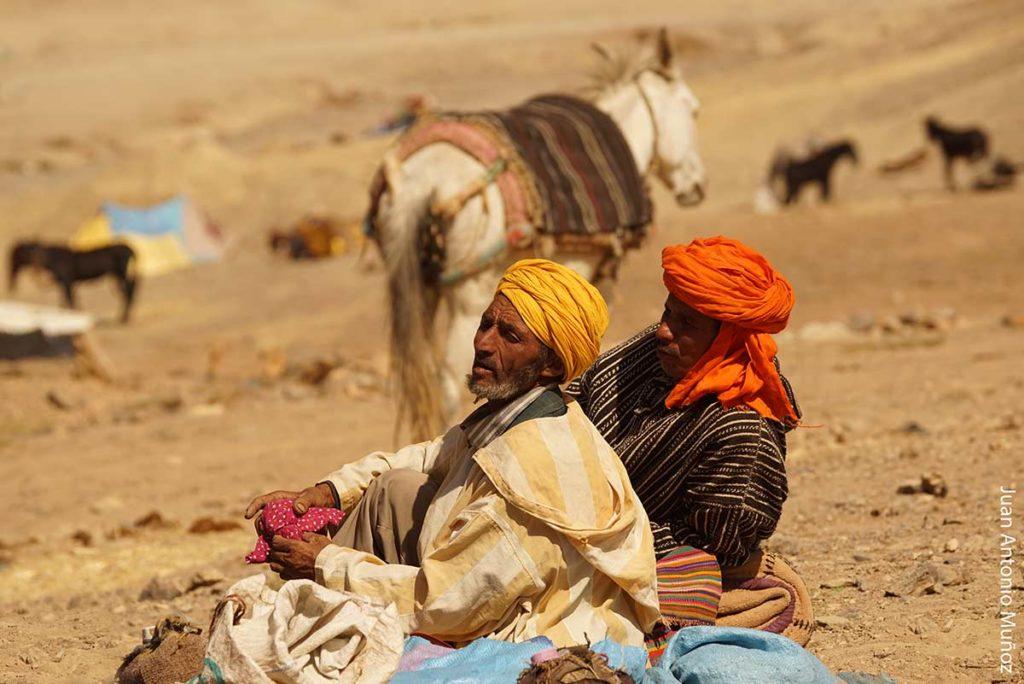 Descansando en campamento Marruecos