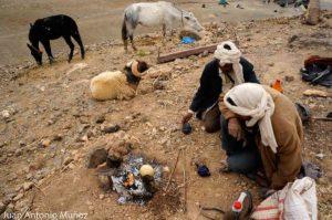 Preparando el té Marruecos