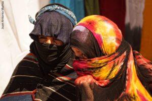 Bereberes con velo Marruecos