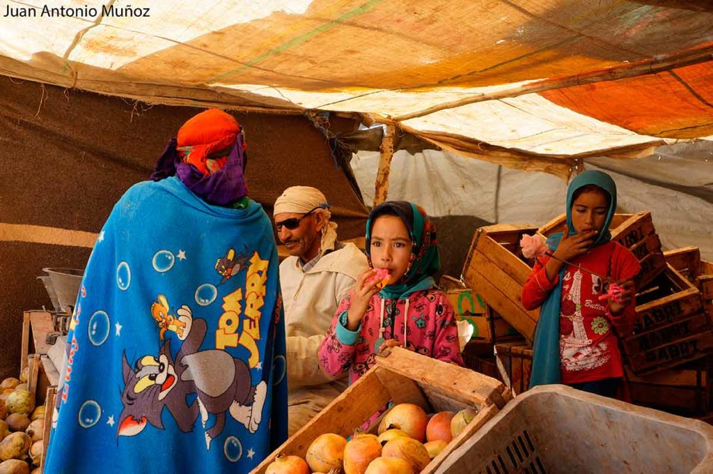 Bereber con manta Marruecos