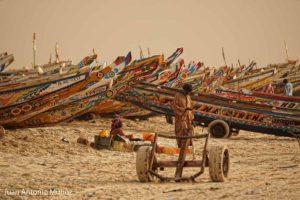 Carromato en playa de Nouakchott Mauritania