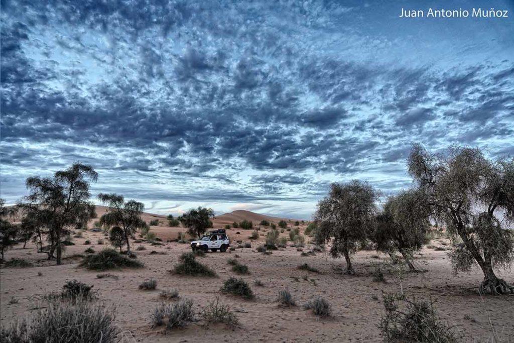 Atardecer en el Sahel. Mauritania