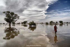 Reflejo en el lago. Mauritania