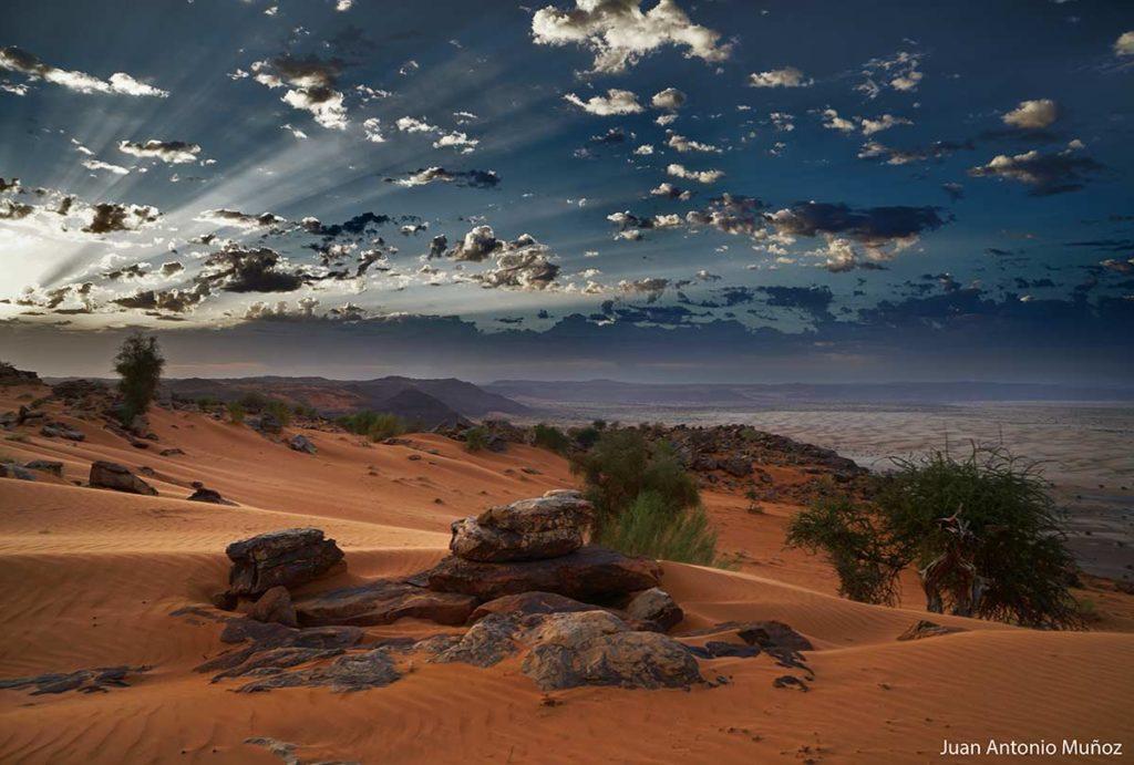 Amanecer en el desierto. Mauritania