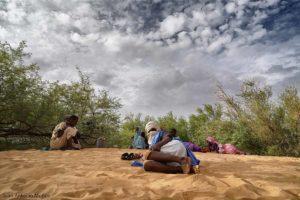 Mirando el atasco. Mauritania