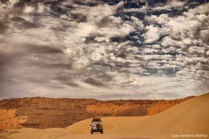 Circulando en dunas. Mauritania