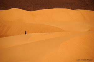 Mujer en la inmensidad. Mauritania