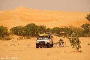 Descansando en el oued. Mauritania