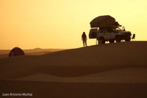 Amanecer en las dunas. Mauritania