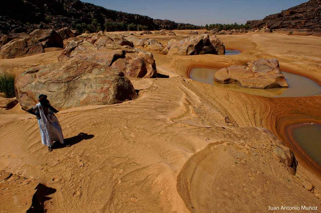 Guelta cocodrilos. Mauritania
