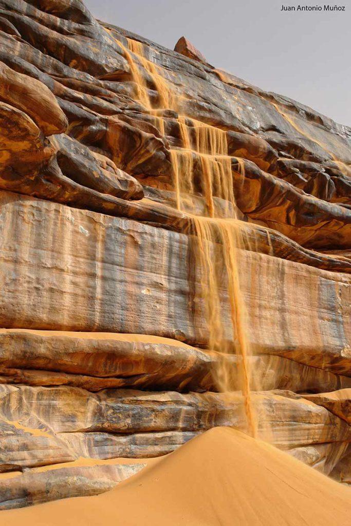 Cascada de arena. Mauritania