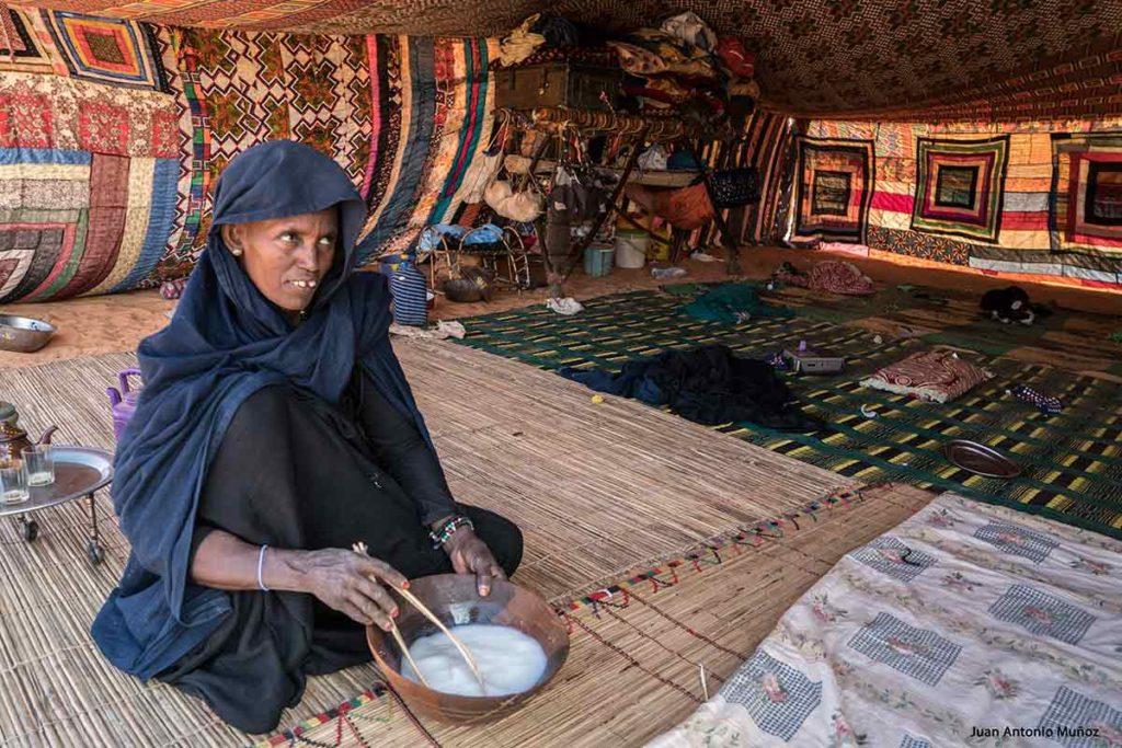 Interior de jaima. Mauritania
