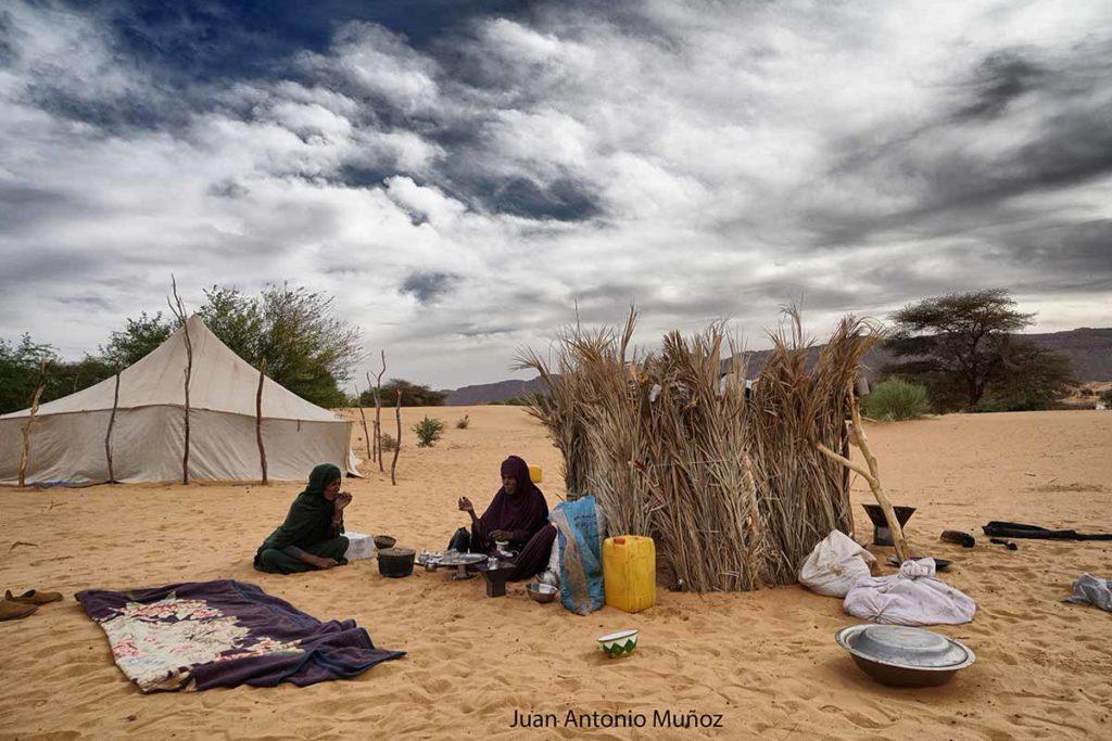 Té en la jaima. Mauritania
