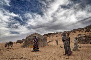 Tarde en el poblado. Mauritania