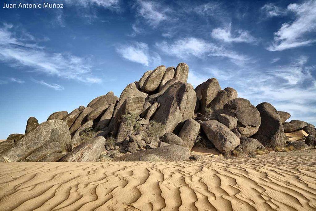 Arena y roca. Mauritania