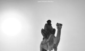 Camellero y atardecer. Mauritania