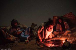 Campamento en Sahara. Marruecos