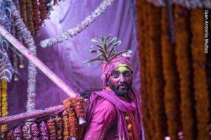 Holi coloreado. India