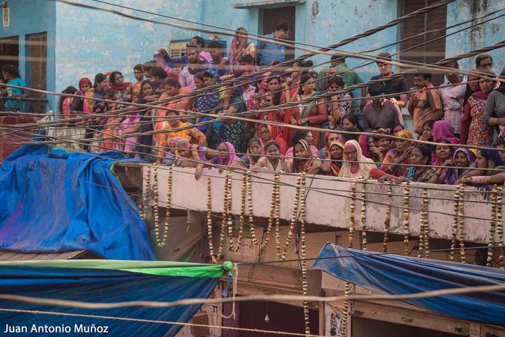 Terraza en Holi. India