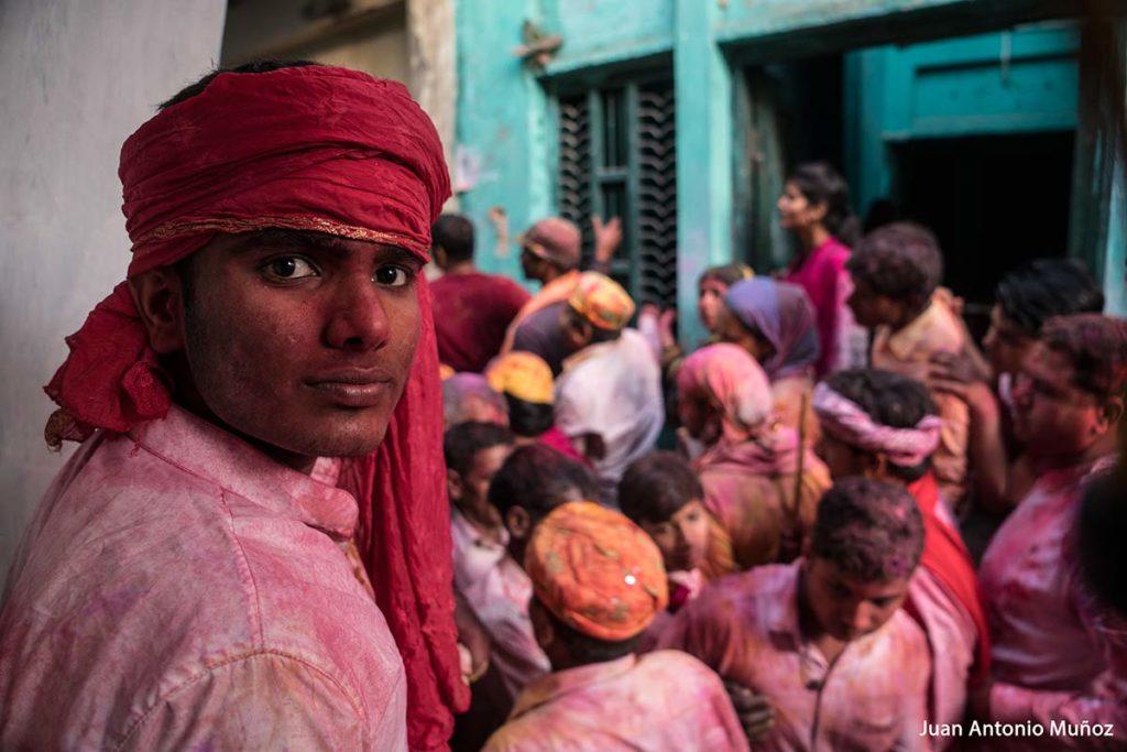 Mirada en Holi. India