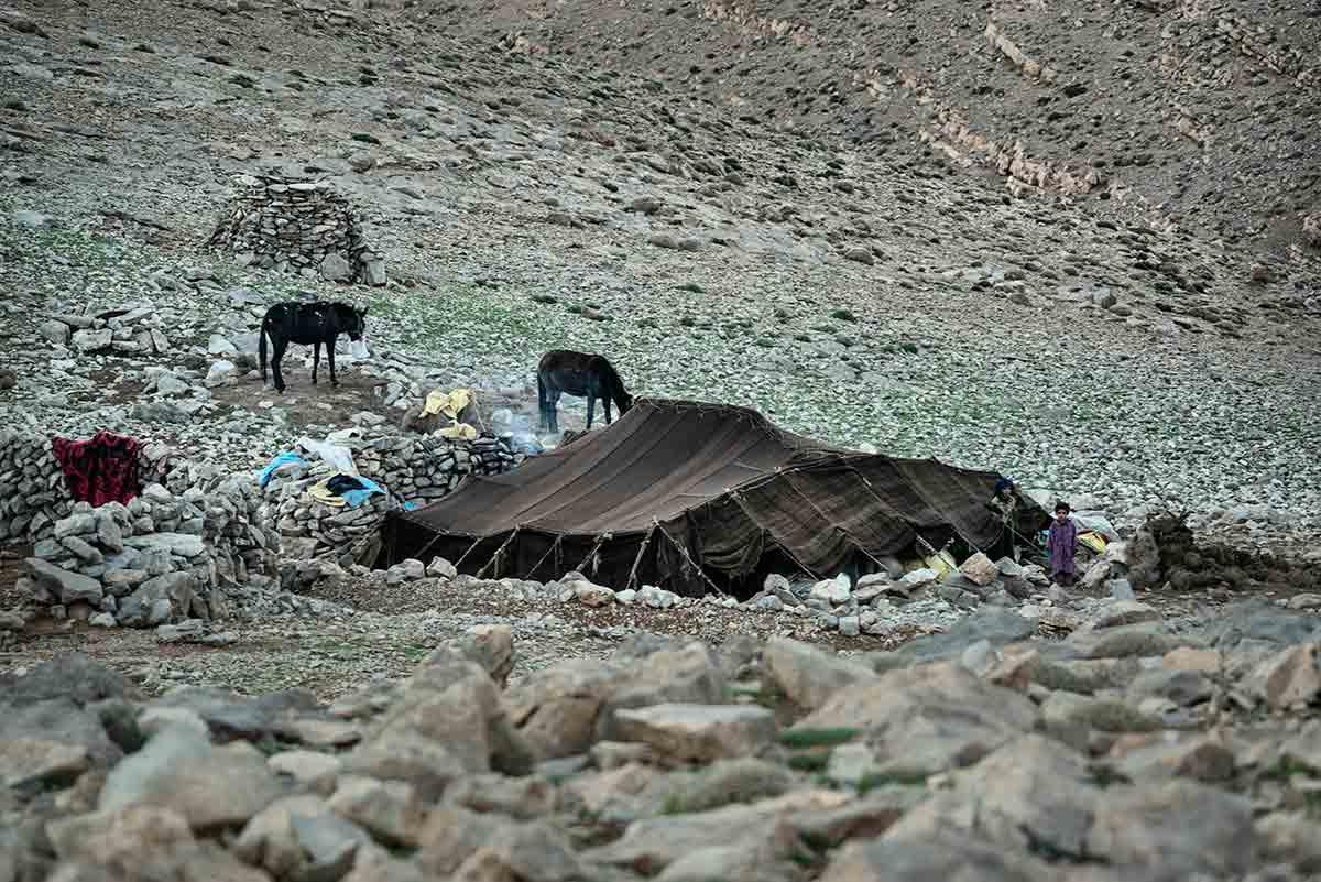 Jaima en el Atlas. Marruecos