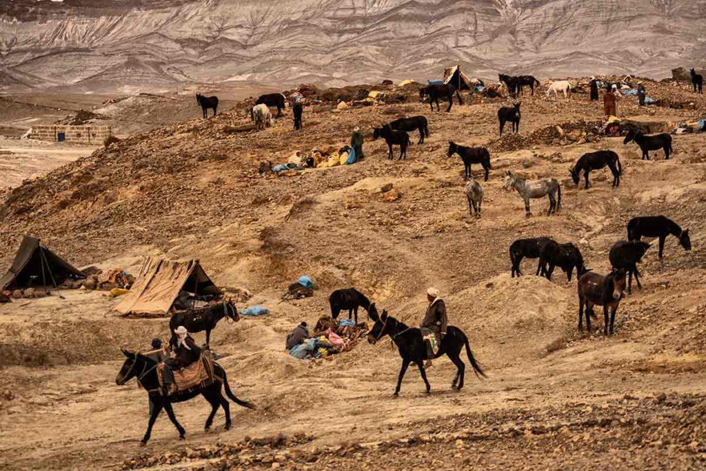 Retirada del campamento. Marruecos