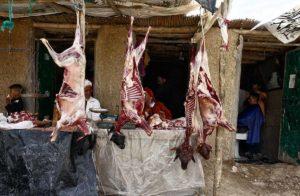 Carnicería en mercado. Marruecos