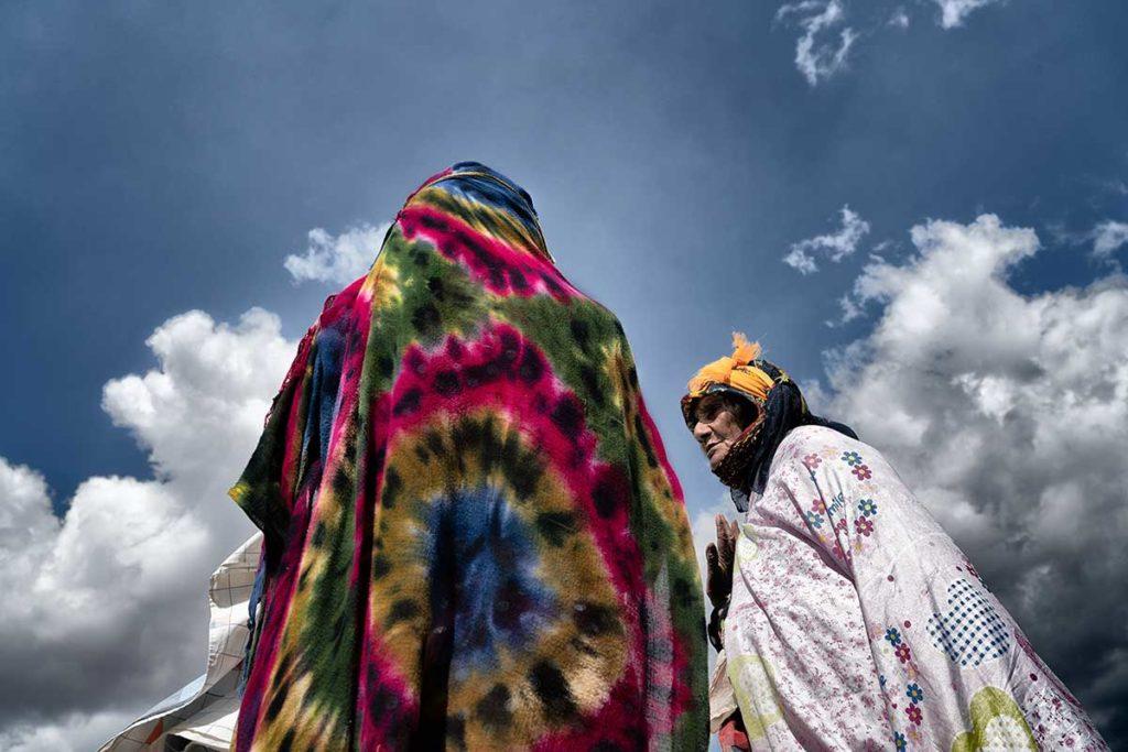 Mujeres bereberes en mercado. Marruecos