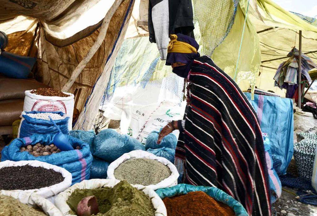 Ait Hadiddou mercado. Marruecos