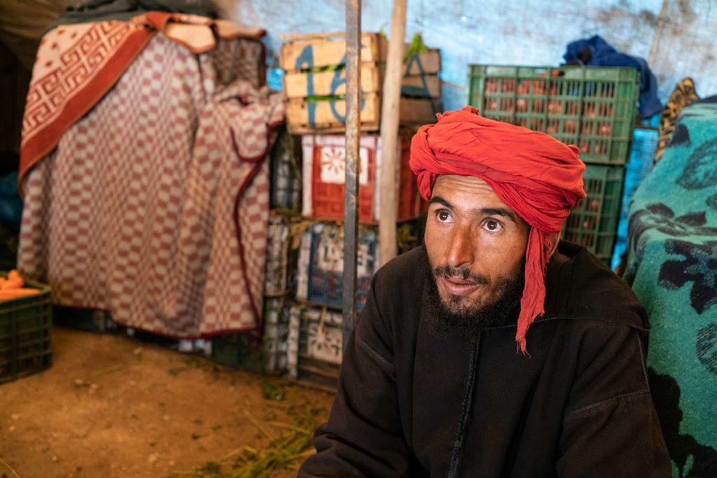 Vendedor de fruta. Marruecos