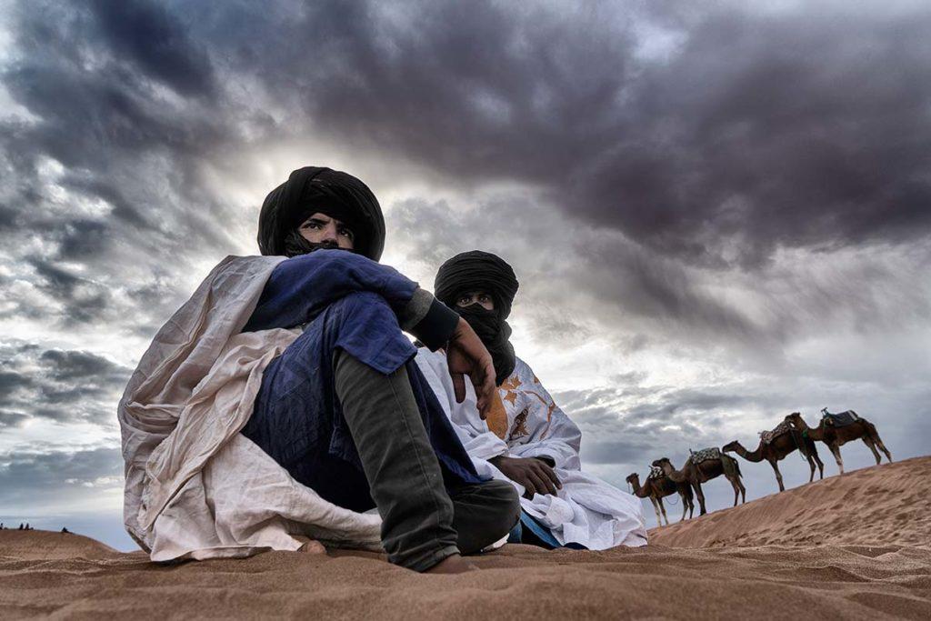 Descanso camellero. Marruecos