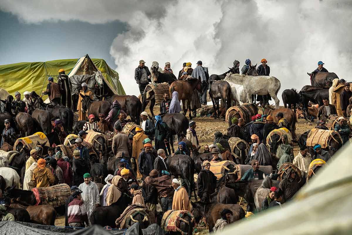 Nómadas y caballos. Marruecos