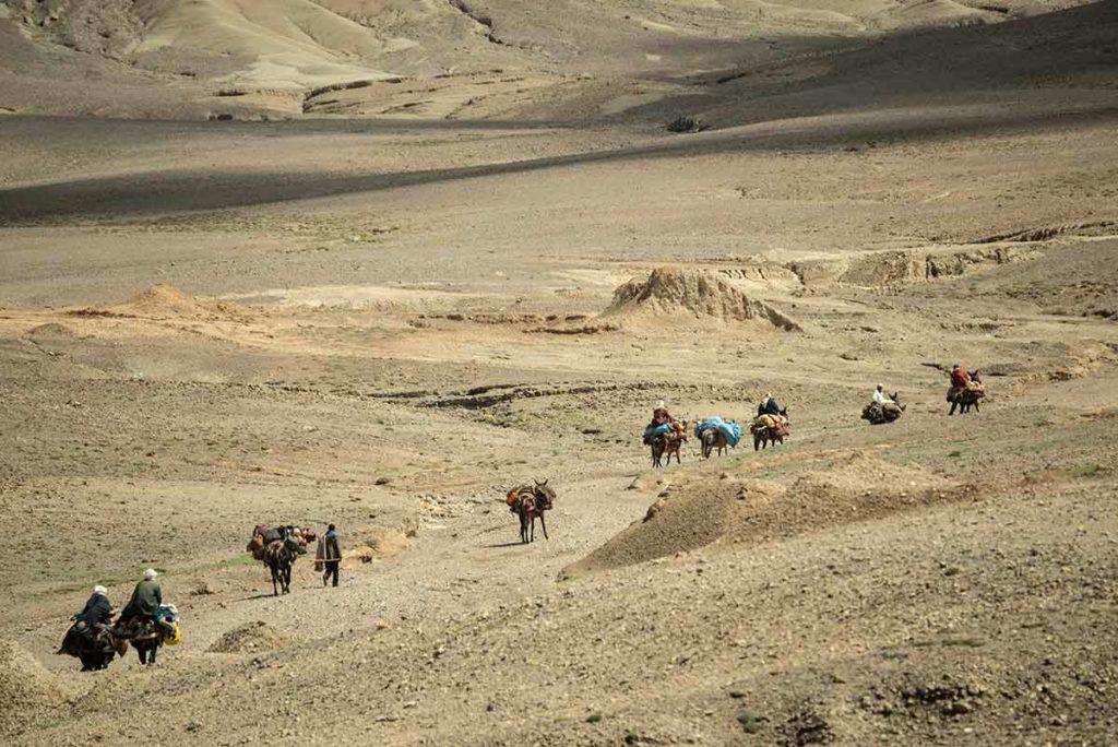 Camino hacia la jaima. Marruecos