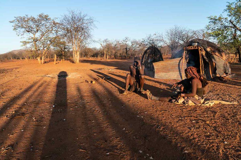Luces en poblado. Namibia