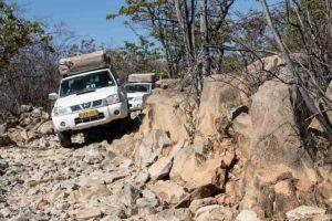 Coche en pista. Namibia